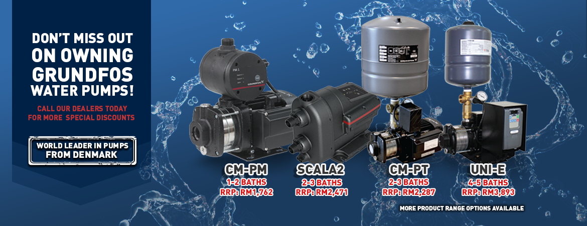 Grundfos Home Water Booster Pump Sales & Services Malaysia